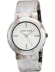 Anne Klein Womens AK/2835WTGY Grey Marble Ceramic Bangle Watch