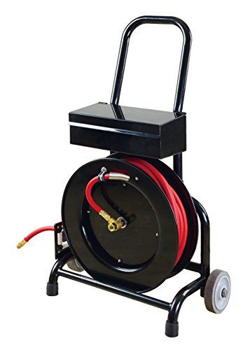 Shop Tuff STF-3850FHTB Hose Reel Cart with Rubber Hose -