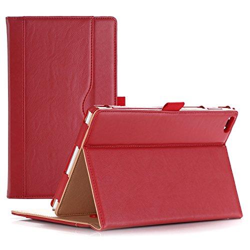 ProCase Lenovo Tab 4 8 Case - Stand Folio Case Protective Cover for Lenovo Tab 4 8 Tablet 2017 Release ZA2B0009US -Red