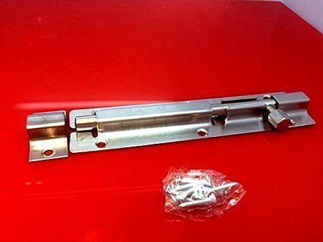 Pestillo con tornillos BAÑO LAVABO Caseta cierre con bloqueo deslizante en 4 Tamaños - 8 inches: Amazon.es: Hogar