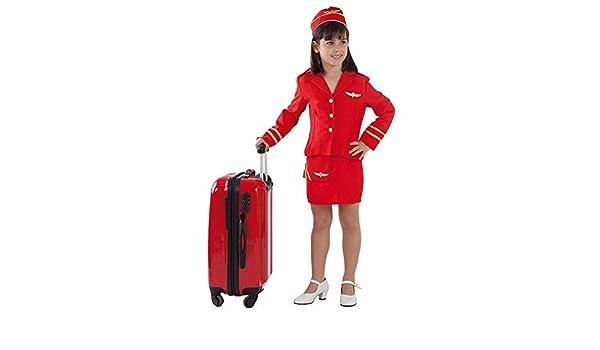 DISBACANAL Disfraz azafata de Vuelo niña - Único, 8 años: Amazon.es: Juguetes y juegos