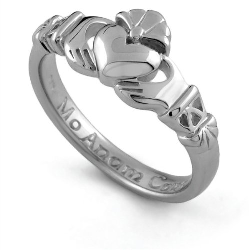 Sterling Silver Claddagh Promise Ring PROMISE1 - Size: 6.5 Made in IRELAND.