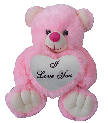 Saugat Traders Love Gifts For Girlfriend I Love You Teddy Bear With Heart  Pink