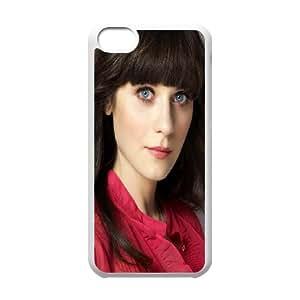 iPhone 5c Cell Phone Case White Zooey Deschanel 3 JSK714787