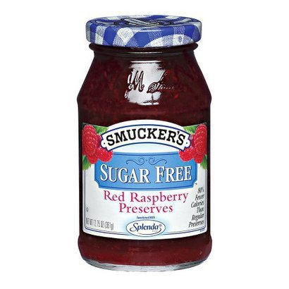 Smucker's Sugar Free Red Raspberry Preserves, 12.75 oz (3 Pack) (Raspberry Sugar Free Preserves)
