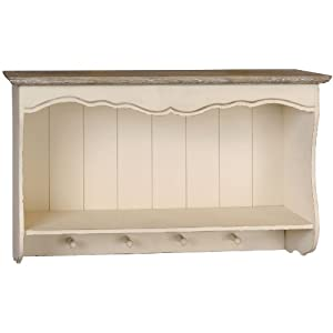 Shabby chic french style country wall shelf unit with - Ikea portaspezie ...