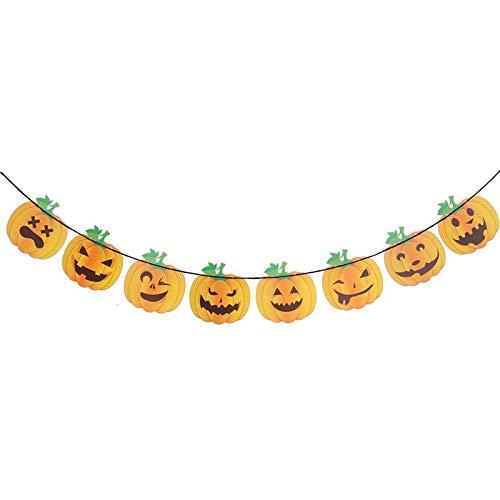 Party Diy Decorations - 3.2 Meters Diy Happy Halloween Pumkins Bunting Banners Garland Pennants Theme Decoration Hanging - Party Decorations Party Decorations Radio Sonata Garland Halloween]()