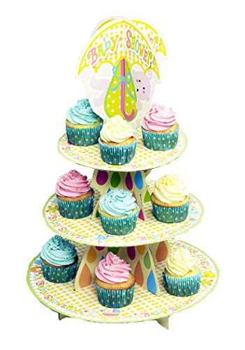 Faerynicethings Stork Baby Shower Cupcake Stand - Party Supplies -