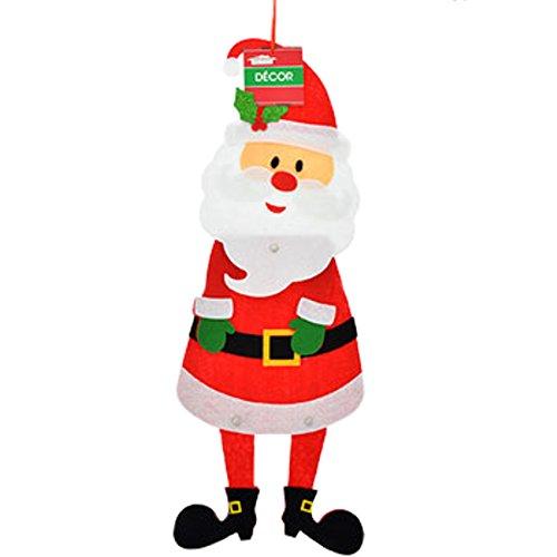 Christmas House Jointed Felt Hanging Decoration (Santa) -