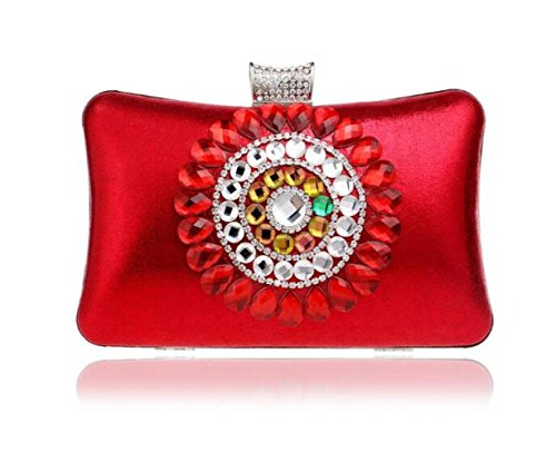 Clutch Luxury Banquet Red Evening FZHLY Ladies Diamond WenL Package CwqHAx6zt