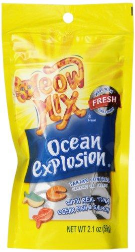Meow Mix Ocean Explosion Tartar Control Cat Treats, 2.1 Ounce (Pack Of 12)