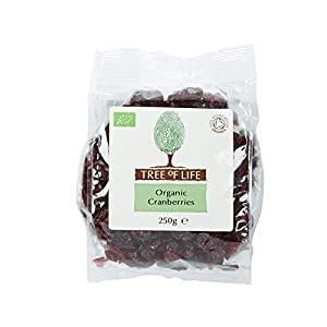 Tree of Life Organic Cranberries 250g - Pack of 2