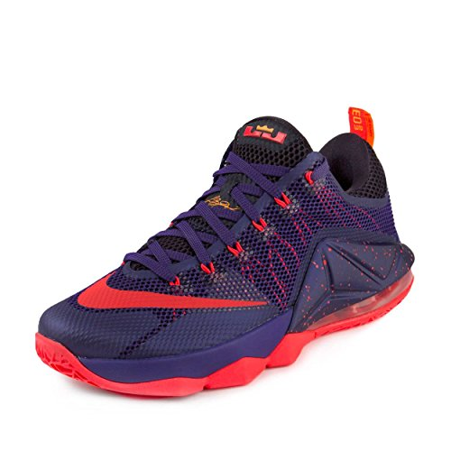 timeless design 67af8 6688c Galleon - NIKE Mens Lebron XII Low Court Purple Bright Crimson Synthetic  Size 9.5