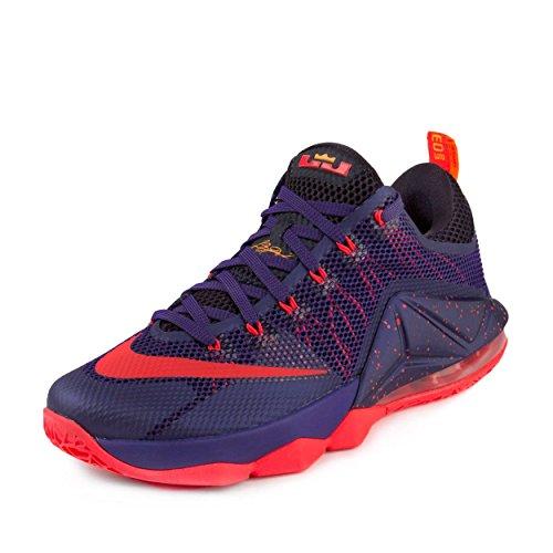 timeless design b8ff1 ec3e2 Galleon - NIKE Mens Lebron XII Low Court Purple Bright Crimson Synthetic  Size 9.5