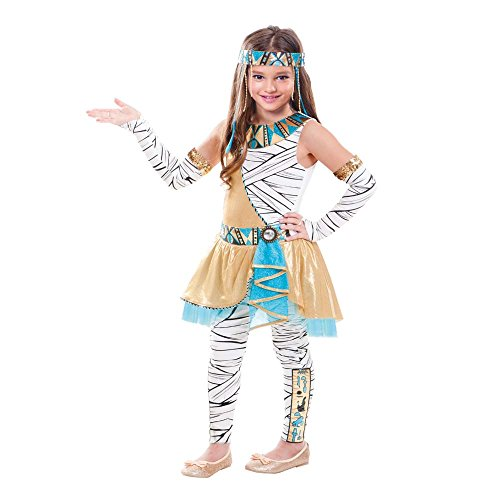 SP Funworld Girls Cleopatra Costume with Headpiece, Gloves,Pants (S(4-6)) -