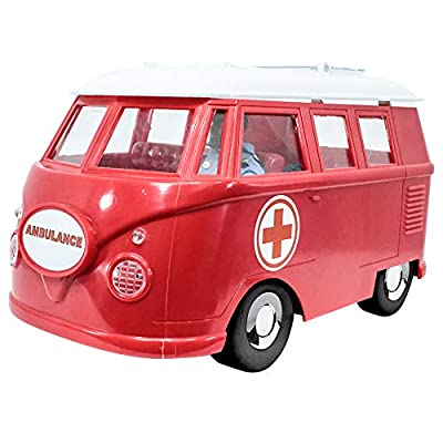 Deluxe Ambulance Playset for WWE Wrestling Action Figures: Red: Toys & Games