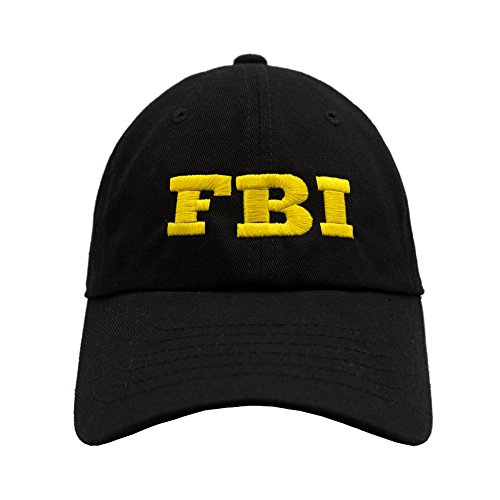 Nissi FBI Dad Hat (Black With Yellow)
