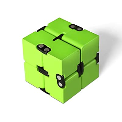 LINGERY Luxury Infinity Cube Green Red White For Stress Relief Fidget Anti Anxiety Stress Funny EDC Toy Gift Funny