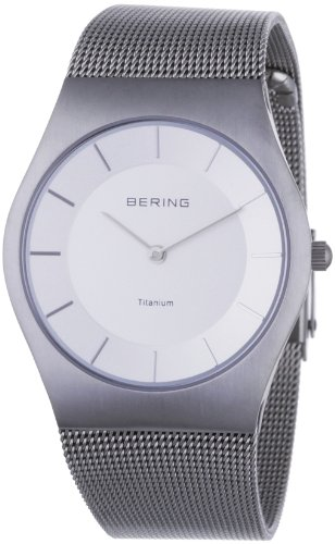 BERING Time 11935-000 Women's Classic Collection Watch with Mesh Band and scratch resistant sapphire crystal. Designed in Denmark.