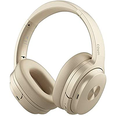 cowin SE7 Active Noise Cancelling Headphones Bluetooth Headphones Wireless Headphones Over Ear with Mic Aptx  Comfortable Protein Earpads 50H Playtime  Foldable Headphones for Travel Work  Gold