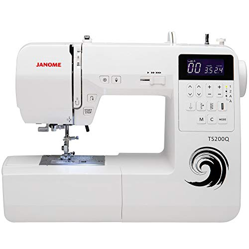(Janome TS200Q Sewing Machine, White)