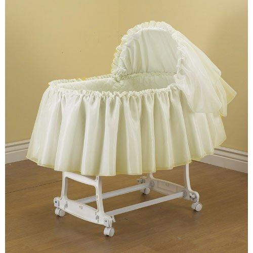 Babykidsbargains Sheer Elegance Organza Bassinet Short Liner Skirt and Hood, 16''x32''