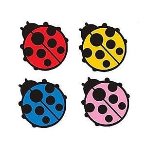 NBCVFUINJ® lady reflexivo pegatinas de coche escarabajo , yellow