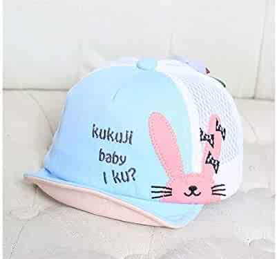 Yuchoi Sun Rabbit Alphabet Baby Mesh Cap Newborn Sun Protection Hat  Baseball Cap for 6- fa7e1b2fec9e
