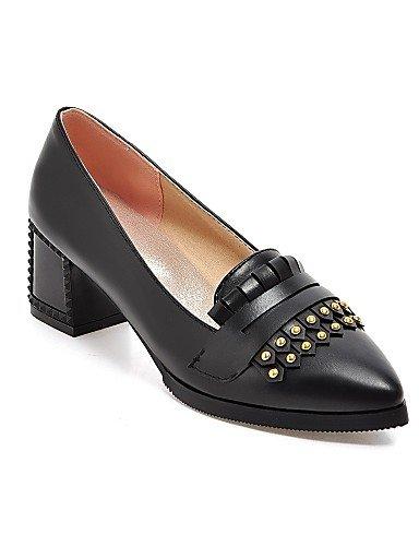 black uk8 y Tacones de Robusto Zapatos PU 5 Negro Beige Tacón Puntiagudos 5 Rojo GGX cn43 us10 Tacones cn43 eu42 red Casual 5 Oficina Trabajo 5 cn43 red uk8 uk8 5 eu42 eu42 mujer us10 us10 5 zAR5q
