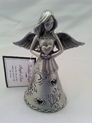 Angel of Love - Faithful Angels Pewter Angel Figurine - In Gift Box
