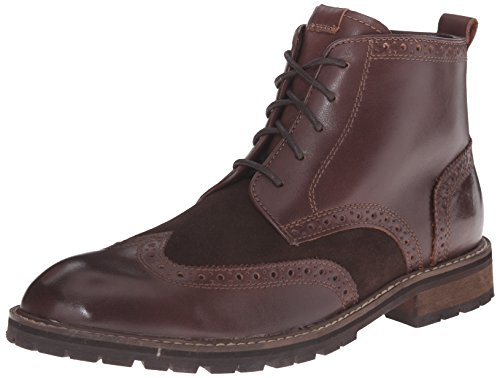 Florsheim Men's Brannon Wingtip Boot, Brown Smooth/Brown Suede, 11 D (Suede Wingtip Boots)