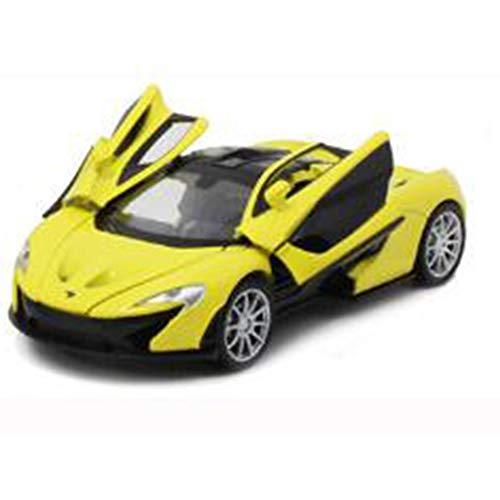 RaiFu リモコンカー 1:32 合金 軽くて 音楽 車 おもちゃ 車のモデル スポーツカーを引きます 安定性高い 車おもちゃ 操作簡単 子供 小学生 贈り物 乗り越え抜群 操作簡単 初心者にも最適 イエロー