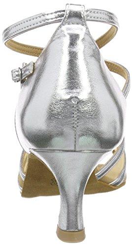 077 Da Ballo Delle Da Da Ballo argento Scarpe Ballo Latino Argento Signore Sala Diamanti Scarpe Donne 035 013 qxgYtxn