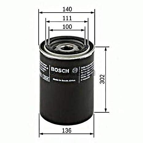 Amazon.com: Bosch Filtro de aceite Fits Deutz-Fahr Hamm ...