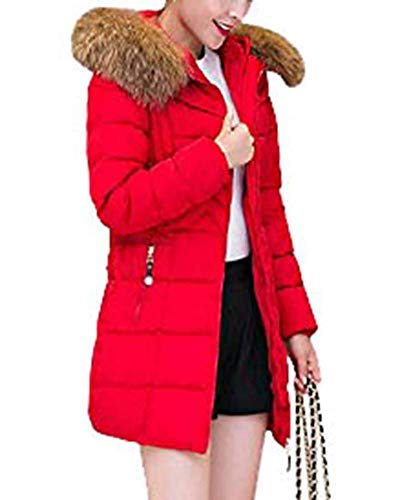 Elegantes Piel Slim Marca Largos De Plumas Caliente Larga Mujer Capucha Grande De Invierno con Acolchado De Rot Espesar Abrigo Pluma Manga Imitación Parkas Talla Mode Fit q6Awff8