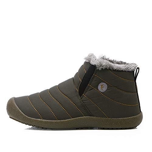 Caliente Color Fhcgmx Inferior Hombres Dentro Esquí 48 Sólido Impermeables Zapatos Nieve Mantener La 36 De Tamaño Moda Botas Invierno Antideslizante 6811gray 687r6qw