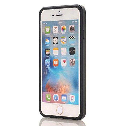 iPhone 6 Plus / iPhone 6s Plus Funda, adorehouse Billetera Estuche Case [Anti Scratch] [Heavy Duty] [Ranura para tarjetas] Dual Layer Hybrid Rubber Bumper Funda protectora para iPhone 6 Plus / iPhone  Dorado