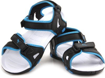 0c57e4af703e Puma Men s Marcus II DP Black and Blue Aster Rubber Athletic   Outdoor  Sandals - 10UK