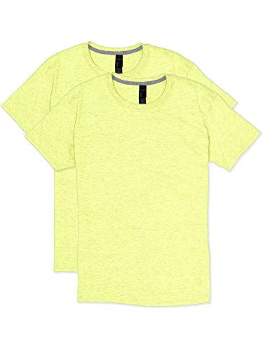 Hanes X-Temp Unisex Performance T-Shirt 2P_Neon Lemon for sale  Delivered anywhere in USA