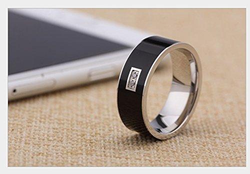 Amazon com: Facleta Smart Ring Titanium NFC Signature Ring