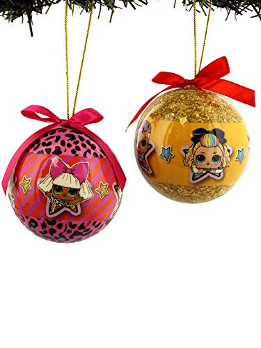 Kurt Adler L.O.L. Surprise! Decoupage Ball Ornament Set Boxed (One Size, Multicoloured) (Christmas Big For Surprise)