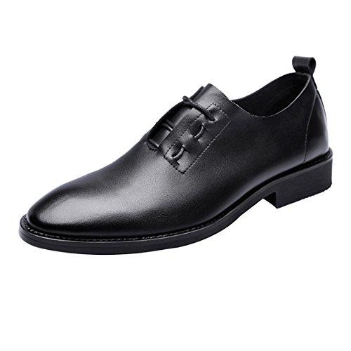 punta PU Zapatos de de la Cross punta en Zapatos 38 EU transpirable Negro casual mate hasta Encaje de Criss Mocasines de los cuero 2018 Hombre Oxfords Size Black Black Color hombres bajos qv1xP7PEn