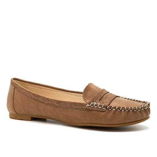 London Footwear - Sandalias con cuña mujer caqui