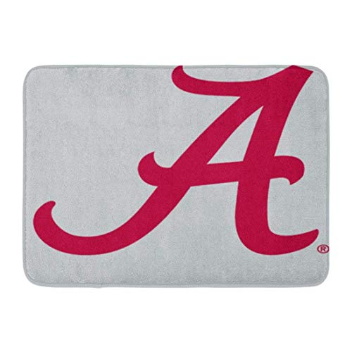 - Coolest Secret Bath Mat Gear Crimson Alabama University Football Bama Tide Bathroom Decor Rug 20