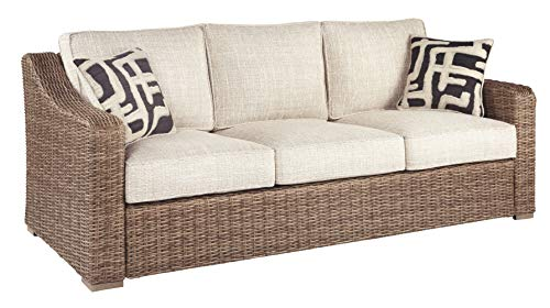 Signature Design by Ashley P791-838 Beachcroft Sofa with Cushion, Light Gray