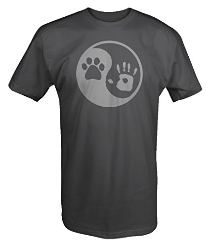 Price comparison product image Stealth - Paw Hand Print Yin Yang Dog Animal Rescue Adopted Pet Lover T shirt - 4XL