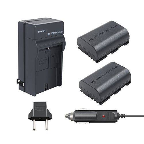 Canon LP-E6 LP-E6N-TURPOW 2 Pack 2600mAh Replacement Canon LP-E6 Battery and Charger for Canon EOS 80D 60D 60Da EOS 70D EOS 5D Mark II EOS 5D Mark III EOS 5DS EOS 5DS R EOS 6D EOS 7D 7D Mark II Camera
