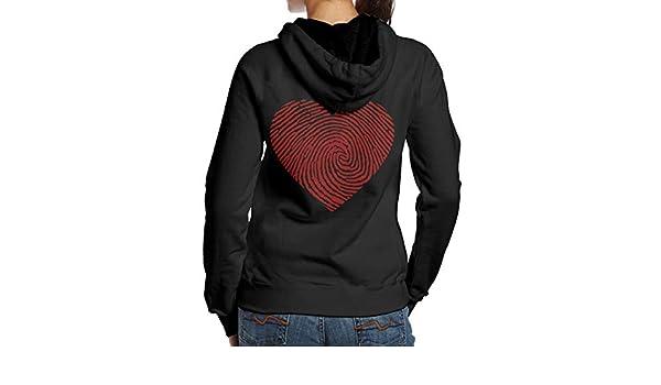 BB/&YYY American Fingerprint Womens Pullover Hoodie Sweatshirt Back Print Hoodies