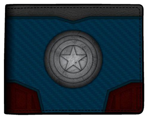Bioworld Marvel Captain America - Carbon Fiber Bi-Fold Wallet 4 x 5in