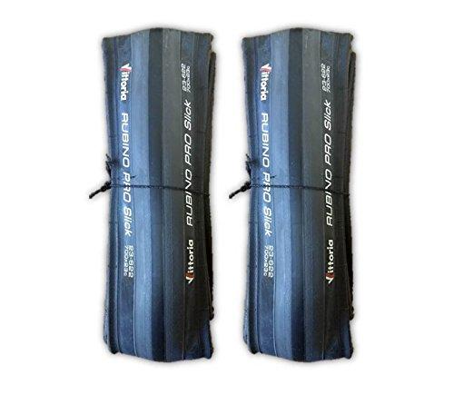 Vittoria Rubino Pro SLICK Black 700x23 Road Bike Tires - PAIR (2 TIRES) (Tire Pro Rubino Vittoria)